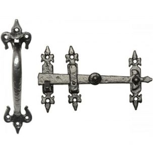 Black Iron Thumb Latch 3618
