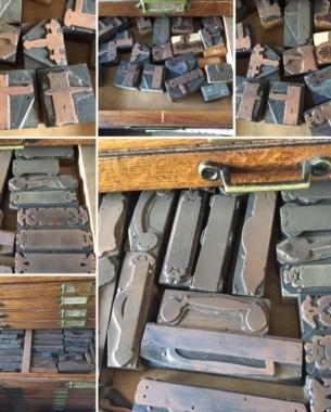 Old printing blocks